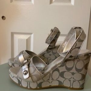 Genuine Coach Wedges, size 9, NIB